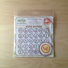 SassaFras Lass Non Yellowing Clear Stamps - Alpha Buttons