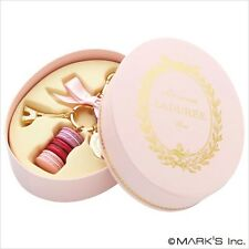 LADUREE Japan ❤ Bag Chain Key Ring Macaron Rose Pink M w/ Original Oval Box
