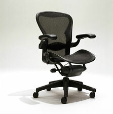 Excellent Herman Miller Size B Aeron Chairs Fully Loaded, Adjustable w/lumber