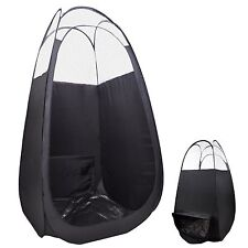 Black Pop Up Airbrush Sunless Spray Tanning Tent Booth W/ Ducting For Fan/F