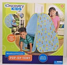 Discovery Kids Woodland Friends Pop-Up Tent  23x23x36 Indoor Outdoor Age 4