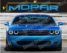 MOPAR TOP WINDSHIELD VINYL DECAL STICKER BANNER. CHARGER, CHALLENGER, RAM ETC