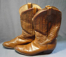 MENS TONY LAMA  BROWN LEATHER WESTERN COW BOY BOOTS SIZE 11