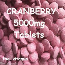 CRANBERRY 5000mg 90 Tabletten (1 Oder 2 Pro Tag) (L)