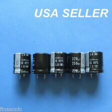 5pcs NICHICON 220uF 250WV 250V snap-in Electrolytic Capacitor 22X25MM