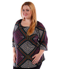 NEW! WOMEN'S PLUS SIZE CLOTHING T-SHIRT SOFT MULTI COLOR BLOUSE 4X