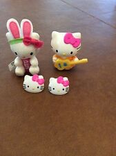 HELLO KITTY PEZ Candy Dispenser Plush-W/ KeyChain Bunny Ears, desk toy, kid ring