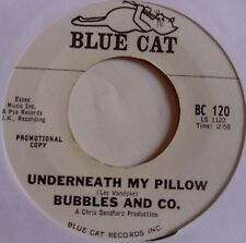 BUBBLES and CO ~ UNDERNEATH MY PILLOW ~ RARE ROCKER promo on BLUE CAT 45 ~ HEAR