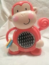 "2011 Fisher Price Activity Gym Monkey Musical Sensory Pull Handle 10"" Toy"