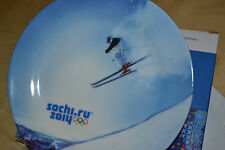 Official Olympic Decorative plate -Sochi 2014---SKI-- !!!LOOK__!NEW  conditions!