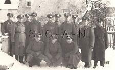 WWII German Army Large RPPC- Soldier- Uniform- Formal Hat- Overcoat- Small Flag