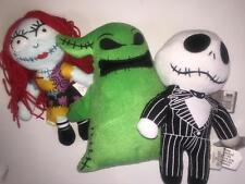 "Nightmare Before Christmas SALLY JACK OOGIE PLUSH Doll Set 9"" 10"" NEW"