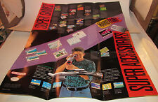 Super Nintendo SNES How To Hook Up Console System Double Sided Pack In Poster