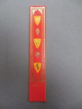 BOOKMARK Leather Heraldic Design Crests Shields Red Orange Gold English
