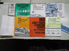 Set of 6...USED 1981 Ford Light Truck (F100/350/Bronco) Helm Service Manuals