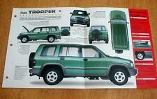 1998 ISUZU TROOPER 3.5 LWB UNIQUE IMP BROCHURE