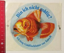 Aufkleber/Sticker: Bin Ich Nicht Goldig? Goldfischfutter Von Tetra (05051696)