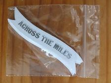 Pack de 10 bannières de message-blanc / argent-dans les miles