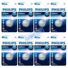 8 x Philips CR2025 3V Lithium Button Battery Coin Cell DL2025 for Car Key Fobs