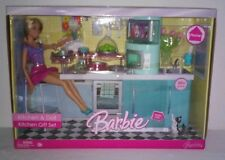 Mattel 2006 HOME Barbie Doll & Kitchen Gift Set w/ Food & Accessories HTF NIB