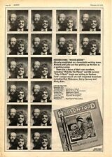 HUDSON-FORD (STRAWBS) Nickleodeon 1973 UK Poster size Press ADVERT 16x12""