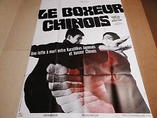 wang yu LE BOXEUR CHINOIS ! Shaw Brothers  affiche cinema kung-fu karate 1970