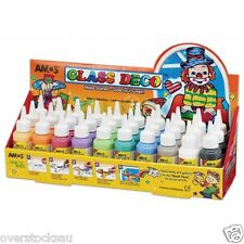 School Holiday Craft 10x 60ml Bottles Amos Glass Deco WindowPaints READ DETAILS