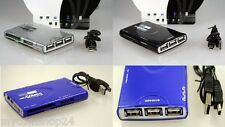 COMBO 3-PORT CARDREADER USB HUB ALL IN 1 KARTENLESEGERÄT PC MAC IN BLAU NEU&OVP