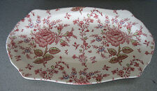 "Johnson Brothers Rose Chintz Pink 1930-2003 England 12 5/8"" LRG Sandwich tray"