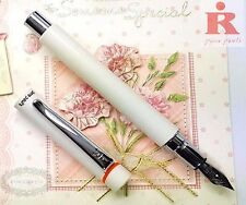Pirre Paul's 325A Fountain Pen WHITE +5 cartridges BLUE ink