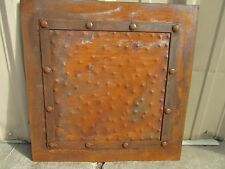 Rustic Iron Hammered Metal Panels-24x24-Handmade-Rust Finish-Furniture Projects