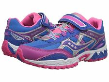 Saucony Girls Non-Tie Sneakers  Blue/Pink/Purple  Youth Girls  Size 5 M