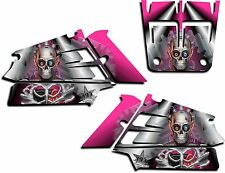 YAMAHA BANSHEE GRAPHICS WRAP DECAL STICKER KIT TURBO CHARGED SHROUDS PINK
