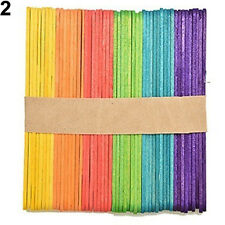 KIDS CHILD MULTI-COLOR WOODEN POPSICLE STICKS DIY CRAFTS PUZZLE TOYS IDEAL
