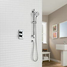 LILY CONCEALED THERMOSTATIC BATHROOM SHOWER MIXER VALVE SLIDER RAIL 3 MODE
