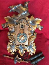 Antique Forestville Clock Co USA German Black Forest Carved Cuckoo Clock