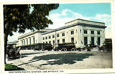 """CA Los Angeles """"Southern Pacific Station""""  Used White border Van Noy Co Postcard"""