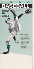 1960 United Press International Baseball Handbook and Schedules Guide