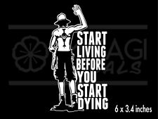 One Piece - Ace - Start Living Before You Start Dying - anime - vinyl decal