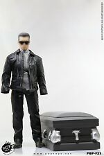 POP TOYS F21 ROBOT w/ Wooden Coffin - T800 Leather Coat Suit 1/6 (NO BODY & HEAD
