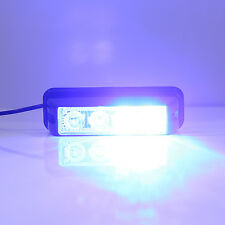 4Leds Blue Strobe Emergency Flash Warning Light Car Rooftop Grille Lamp 17 Mode