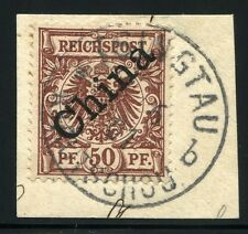 249/KIAUTSCHOU CHINA 1901 M 6 I Luxus Briefstück ° Tsingtau b Attest BPP RAR