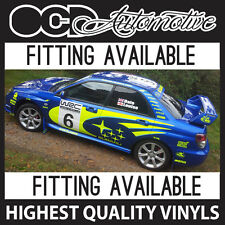 90 PIECE SUBARU IMPREZA RALLY STYLE GRAPHICS DECALS KIT WRX STI P1 22B WAGON