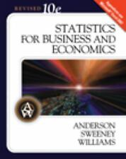 Statistics for Business and Economics, 10th Revised Edition (Available Titles Ap