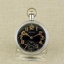 Alte WALTHAM Militär WK2 Taschenuhr Herren Uhr Uhren military pocket watch WWII