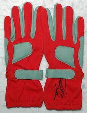 Sebastian Vettel Signed Red Racing Gloves Pair