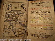 1747 XENOPHON Greek Text Cyropaedia & Anabasis CYRUS Persia MAP Expedition