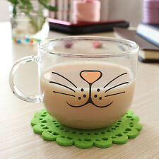 Cat Glass Coffee Cup Home Decoration Transparent Clear Water Mug 550ML