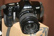 Minolta Dynax 3000i 35mm SLR Film Camera +35-80mm AF Lens +Program D 314i Flash.
