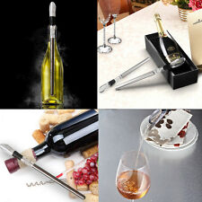 Red White Ice Wine Chiller Chilling Rod Stick Cooler Pouring Spout Aerator